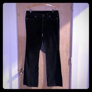 London Jean Black Corduroy Boot Cut Pants Sz 12L